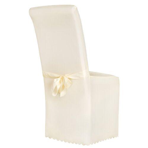 tectake Stuhlhusse »Stuhlhusse aus Polyester mit Schleife«, , beige