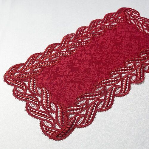 Delindo Lifestyle Tischläufer »DIANA«, Edle Macramee-Spitze, rot
