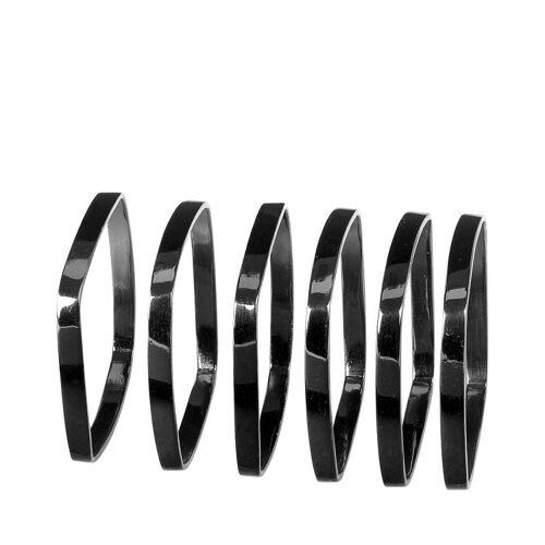 BLOMUS Serviettenring »FINO Black Nickel 6er Set«, Metall, (6-tlg)