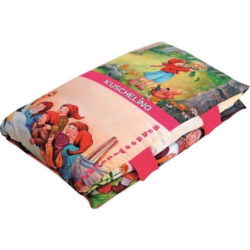 Dekokissen »Märchenbuch«, Ein Kissen und Märchenbuch zugleich, pink