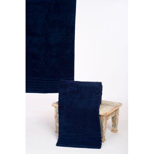 Wewo fashion Saunatuch »AIDA« (1-St), Bestickung SAUNA, marine