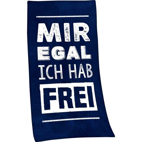 Minions Badetuch »Mir egal, ich hab frei« (1-St), mit lustigem Spruch