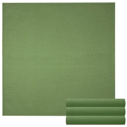 Lashuma Handtuch Set »Küchentücher« (Set, 4-tlg), Geschirrtuch 4er Set, Küchentücher Waffelpique 50 x 50 cm, moos