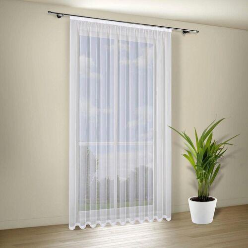 Gerster Vorhang »GLORIA Vorhang weiß transparent aus Voile, Gardine Kräuselband verschiedenen Breiten und Höhen«, , Voile