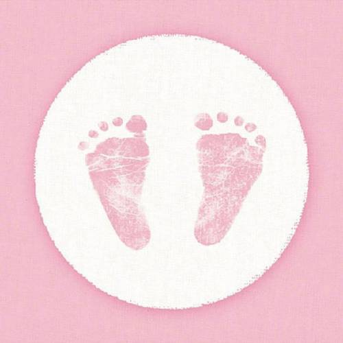 Ambiente Papierserviette »Babyfüße Rosa«, (20 St), 33 cm x 33 cm
