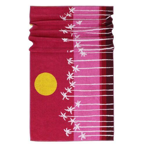 Lashuma Strandtücher (1-St), - Das gute Laune Tuch!, rot