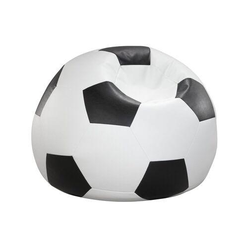 Home affaire Sitzsack »Fußball«, in 5 Farben, weiß-schwarz