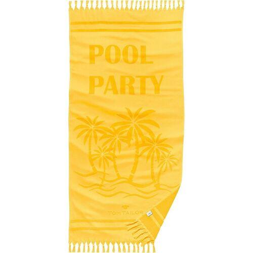 "TOM TAILOR Strandtuch »Strandlaken ""Pool Party"" 90x180 cm«, gelb"