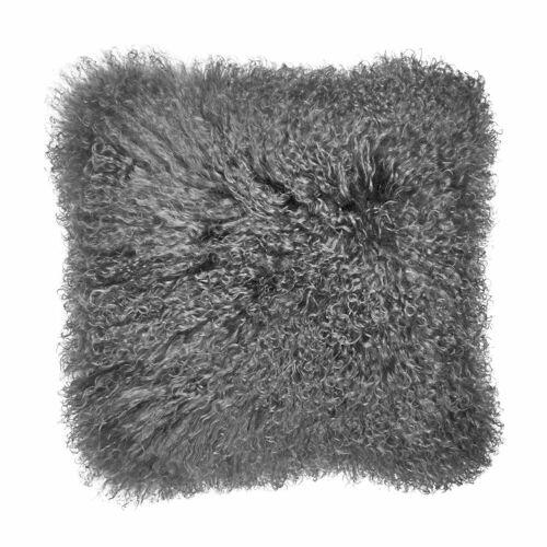 BUTLERS Fellkissen »TASHI Lammfell Kissen L 40 x B 40cm«, Grau