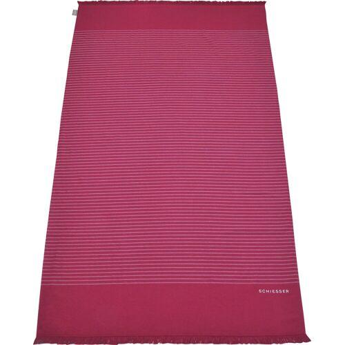 Schiesser Hamamtücher »Rom« (1-St), pink-weiß