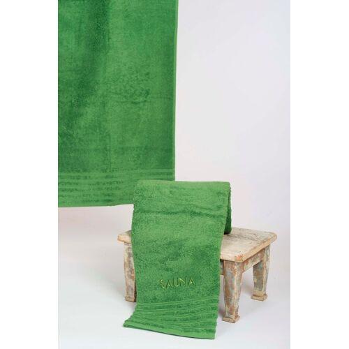 Wewo fashion Saunatuch »AIDA« (1-St), Bestickung SAUNA, grün