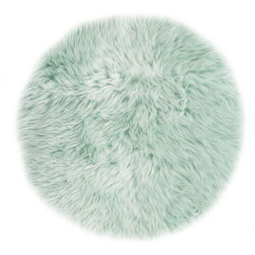LUXOR living Stuhlkissen »Lammfell«, Sitzauflage, rund, echtes Lammfell, cameo green