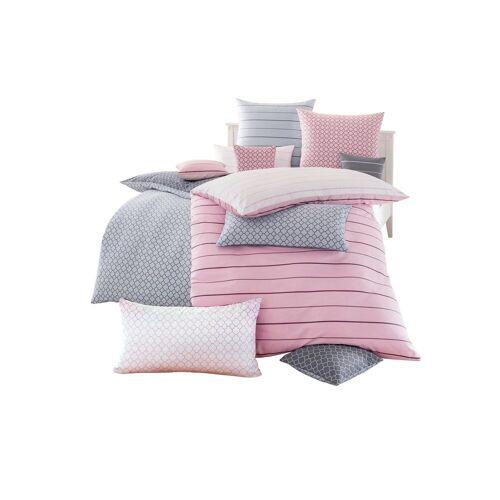 Biberna Kissenbezüge, rosé-gestreift
