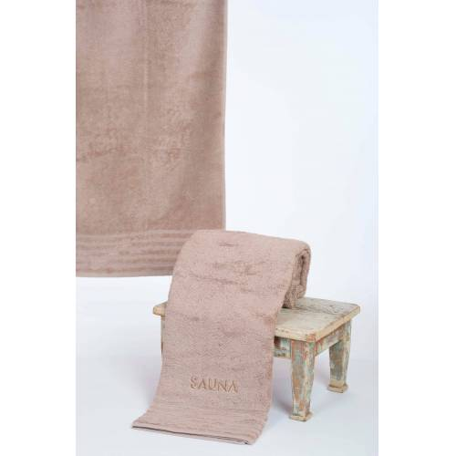 Wewo fashion Saunatuch »AIDA« (1-St), Bestickung SAUNA, beige