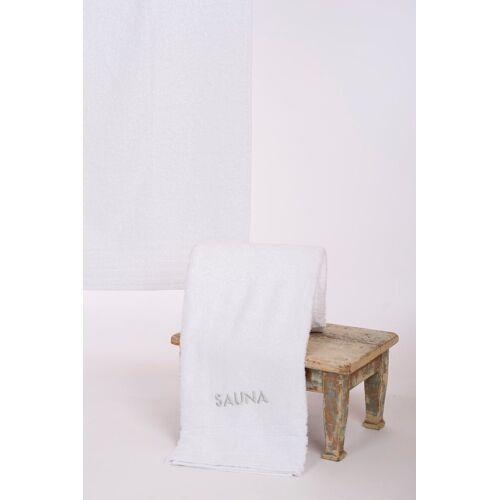 Wewo fashion Saunatuch »AIDA« (1-St), Bestickung SAUNA, weiß