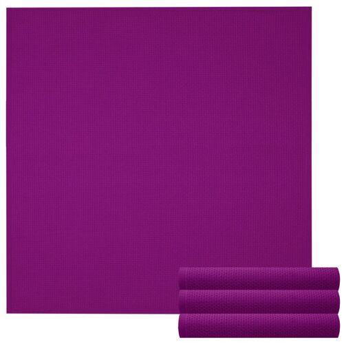 Lashuma Handtuch Set »Küchentücher« (Set, 4-tlg), Geschirrtuch 4er Set, Küchentücher Waffelpique 50 x 50 cm, lila