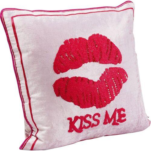 KARE Dekokissen »Kissen Kiss Me Pink 40x40cm«