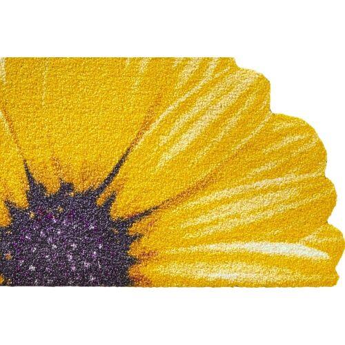 Salonloewe Fußmatte ohne Gummirand, halbrund ohne Gummirand, halbrund ohne Gummirand, halbrund, gelb