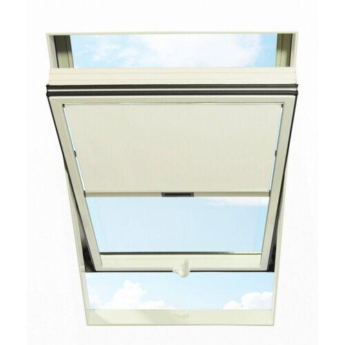 RORO Türen & Fenster Dachfensterrollo, , blickdicht, BxL: 74x140 cm, weiß
