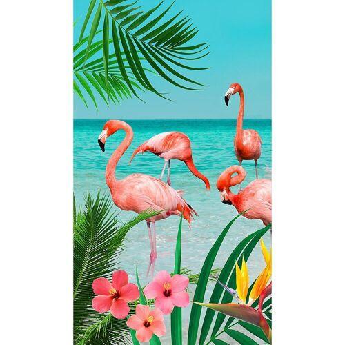 "good morning Strandtuch »Strandtuch ""Flamingo"", 100x180 cm«"