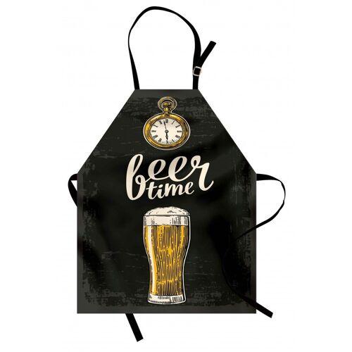 Abakuhaus Kochschürze »Höhenverstellbar Klare Farben ohne verblassen«, Bier Bier-Zeit und Alte Uhr