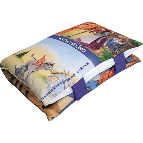 Dekokissen »Märchenbuch«, Ein Kissen und Märchenbuch zugleich, blau