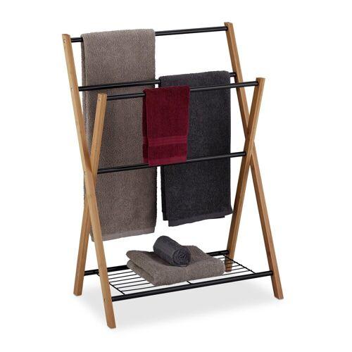 relaxdays Handtuchständer »Stehender Handtuchhalter mit Ablage«