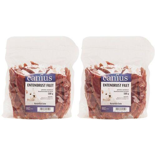 Canius Hundesnack »Entenbrustfilet«, 2 Beutel á 500 g, braun