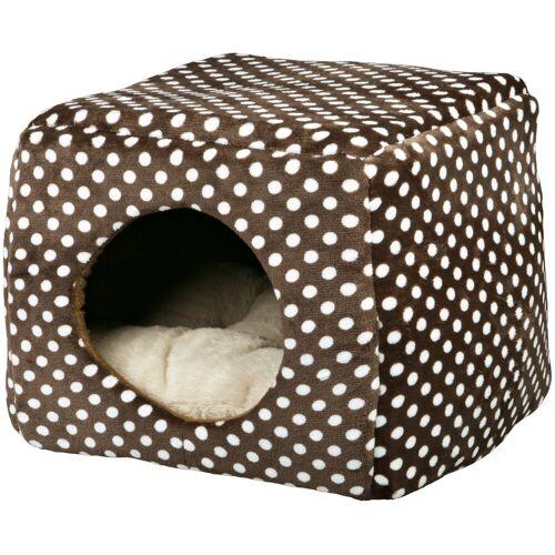 TRIXIE Hundehöhle und Katzenhöhle »Mina«, B/L/H: 40/40/32 cm, braun/beige