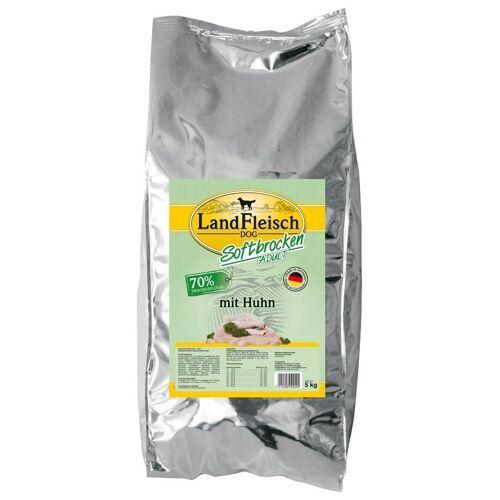 LANDFLEISCH Hundetrockenfutter »Softbrocken Huhn«, 5 kg, braun