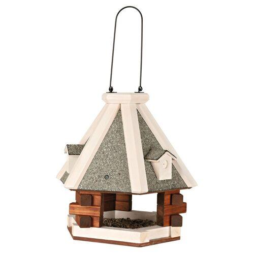 TRIXIE Vogelhaus »Pyramide«, grau/weiß, zum Hängen, B/T/H: 36/36/35 cm, grau