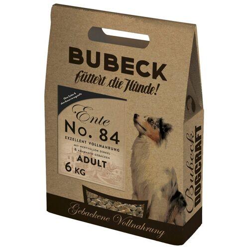 Bubeck Hundetrockenfutter »Ente, Dinkel und Amaranth Mix«, 6 kg, braun