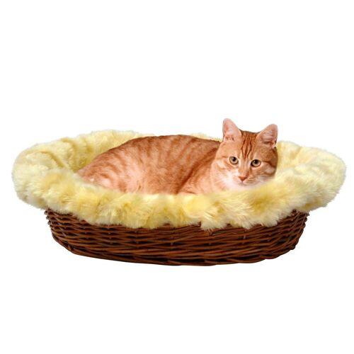 SILVIO design Katzenkorb »Rattan«, cremefarben/braun