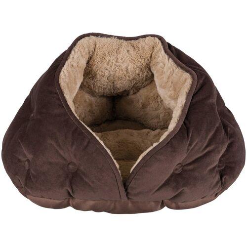 TRIXIE Hundehöhle und Katzenhöhle »Malu«, BxL: 47x41 cm, braun/hellbraun