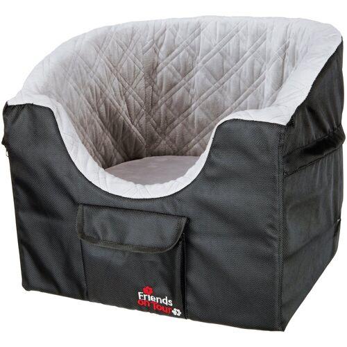 TRIXIE Autositz für Hunde , für kleine Hunde, BxL: 45x42 cm, schwarz/grau