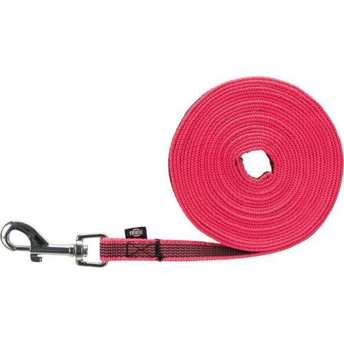 TRIXIE Schleppleine »gummiert«, Gurtband, pink