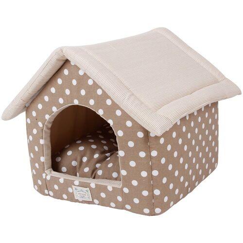 HEIM Hundehöhle und Katzenhöhle »Dots«, beige, BxT: 48x58 cm, braun/beige