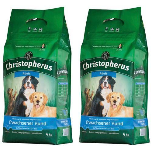 Christopherus Hundetrockenfutter »Adult«, 2 Beutel á 4 kg, braun