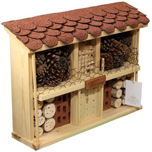 LUXUS-INSEKTENHOTEL Luxusinsektenhotels Insektenhotel »Landhaus Komfort - Bausatz«, natur