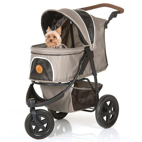 Hauck Kinder-Buggy »Togfit Pet Roadster - Grau«, Hundebuggy / Hundewagen Haustier Buggy bis 32 kg, flexible Schieberhöhe, klein faltbar