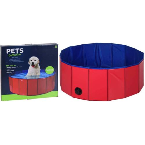 HTI-Living Hundeplanschbecken »Dog«, Rot, Blau