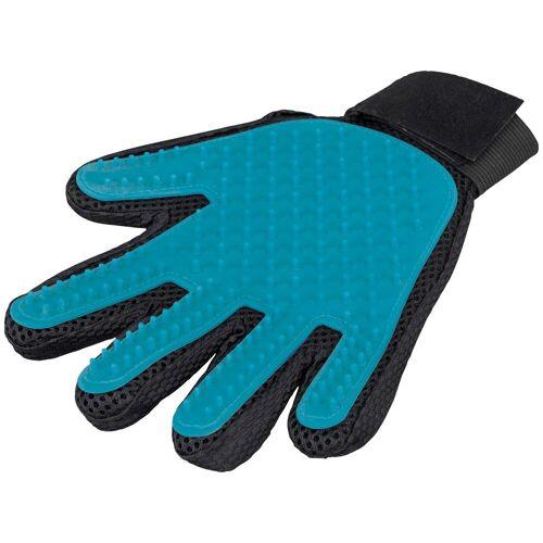TRIXIE Fellpflege-Handschuh für kurzes bis mittellanges Fell, blau