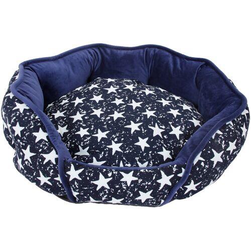 HEIM Hundebett und Katzenbett »Luxus - Star«, blau-weiß, blau/weiß