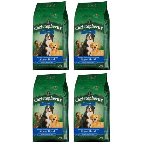 Christopherus Hundetrockenfutter »Älterer Hund«, 4 Beutel á 1,5 kg, braun