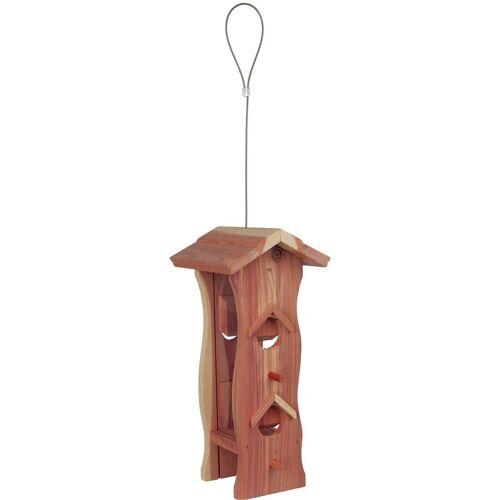 TRIXIE Vogelhaus »Futterspender Vogel Zedernholz«