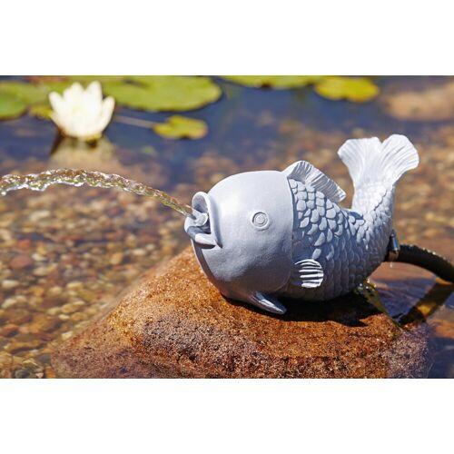 OASE Wasserspiel , Wasserspeier Fisch, grau