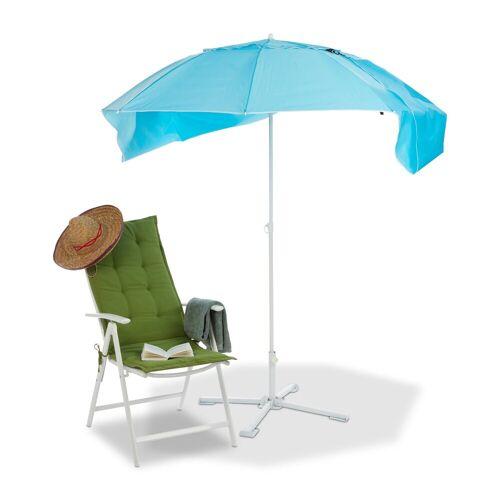 relaxdays Strandmuschel »Sonnenschirm Strandmuschel 2 in 1«