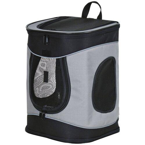 TRIXIE Hunde-Tragetasche »Rucksack Timon«, B/T/H: 34/30/44 cm, bis zu 12 kg, schwarz/grau