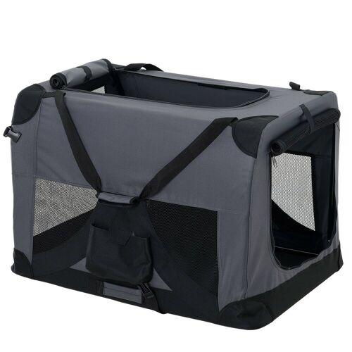 Pro-tec Tiertransporttasche, Hundetransportbox Faltbar von S bis XXXXL Transportbox 4 verschiedene Farben, grau