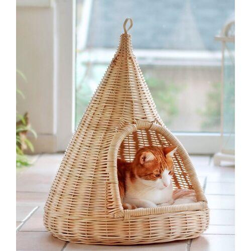 SILVIO design Katzenkorb »Rattan«, beige